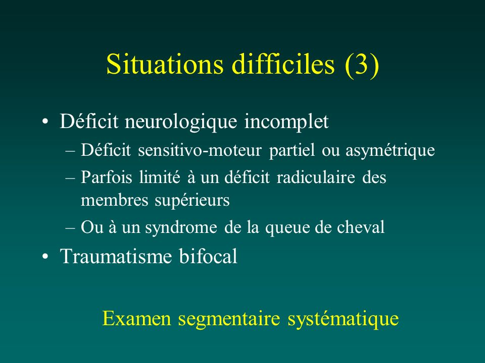 Situations difficiles (3)