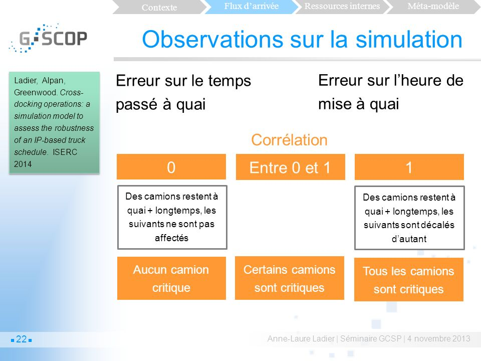 Observations sur la simulation