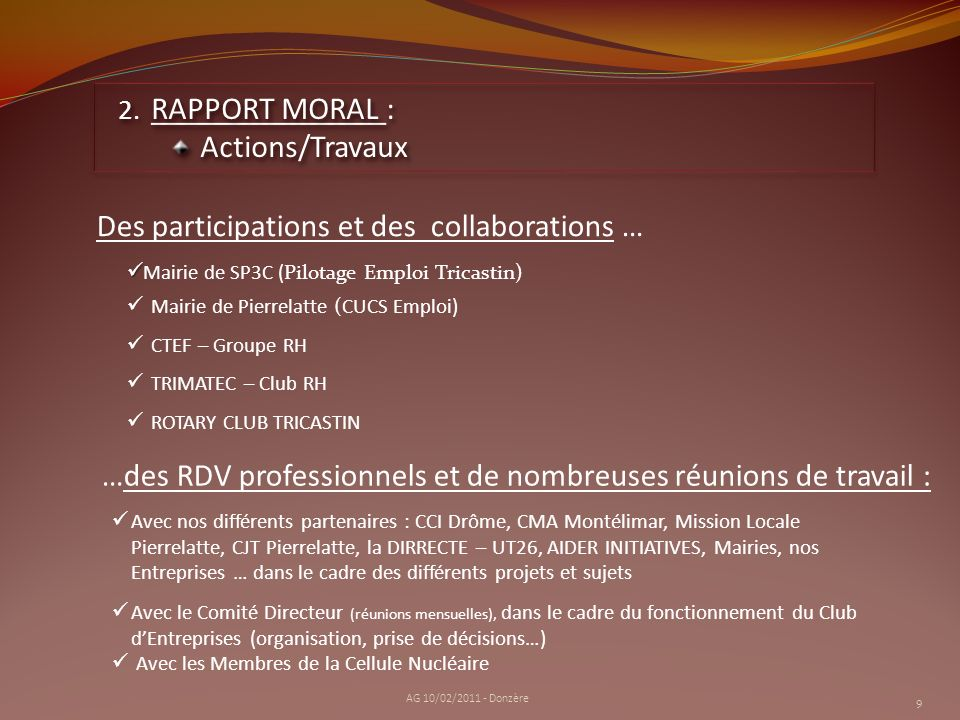 Des participations et des collaborations …