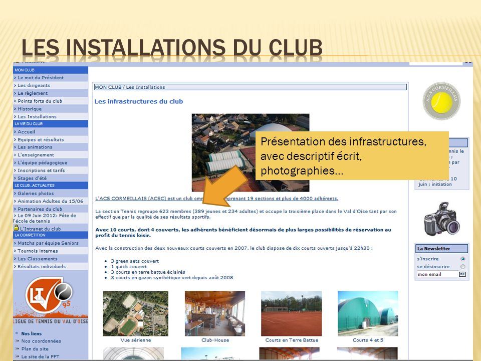 Les installations du club