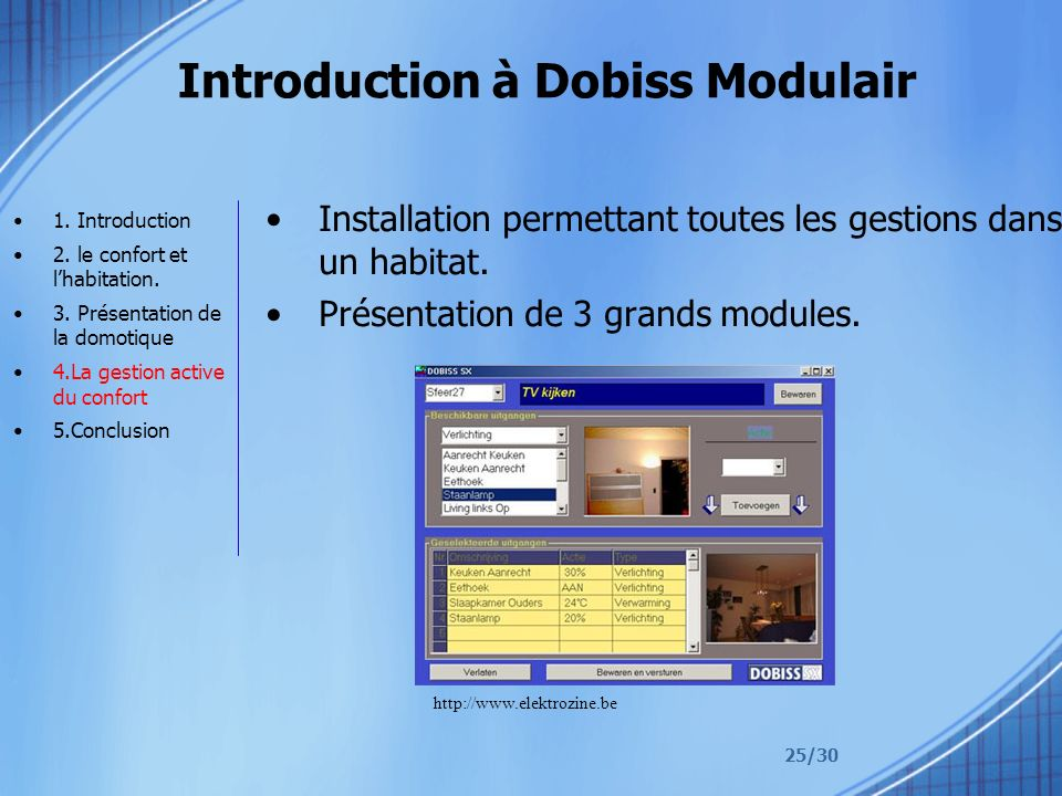 Introduction à Dobiss Modulair