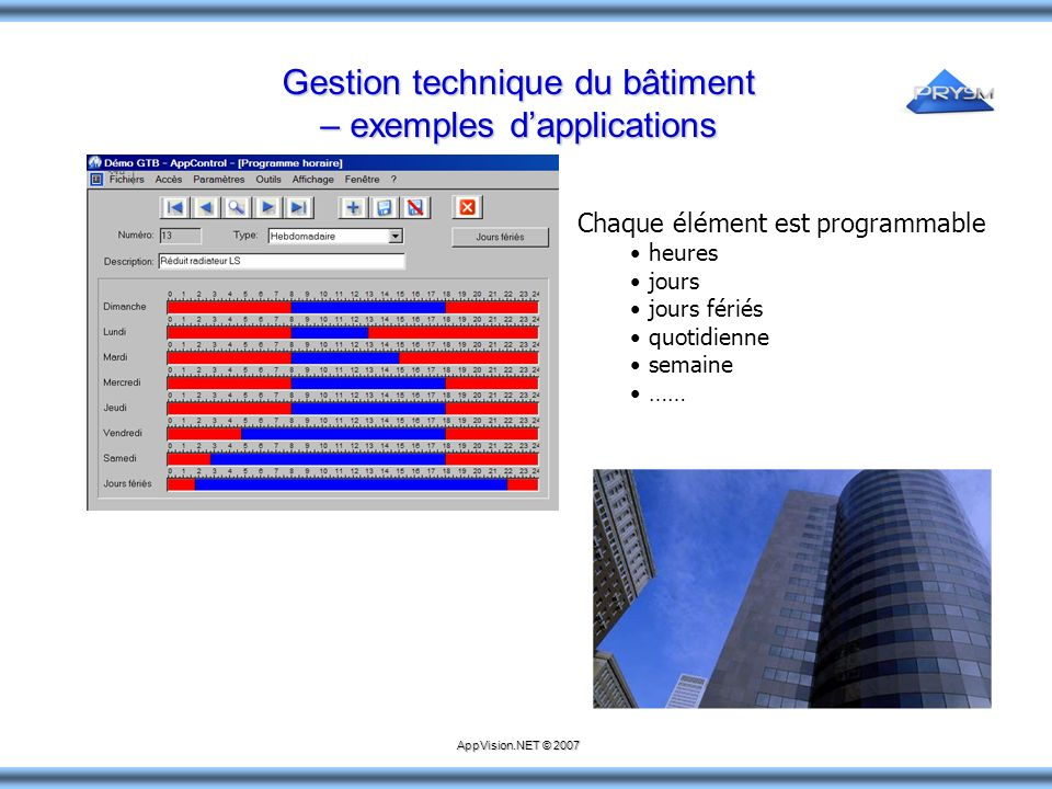 Gestion technique du bâtiment – exemples d'applications