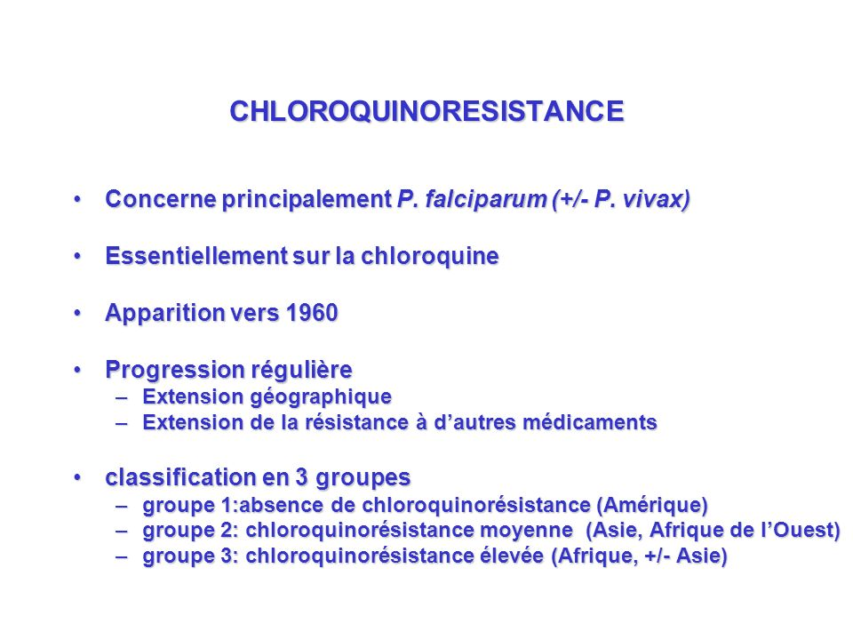 CHLOROQUINORESISTANCE