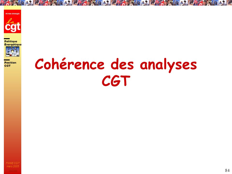 Cohérence des analyses CGT