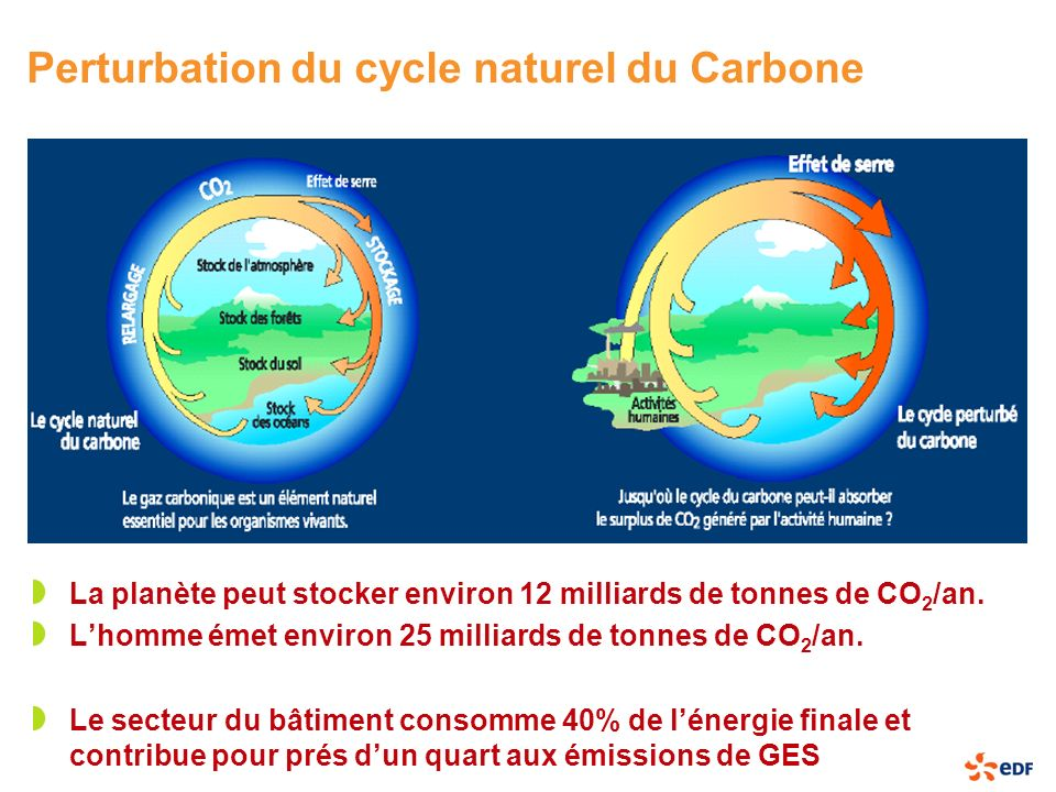 Perturbation du cycle naturel du Carbone