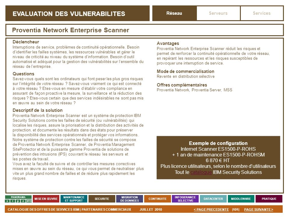EVALUATION DES VULNERABILITES