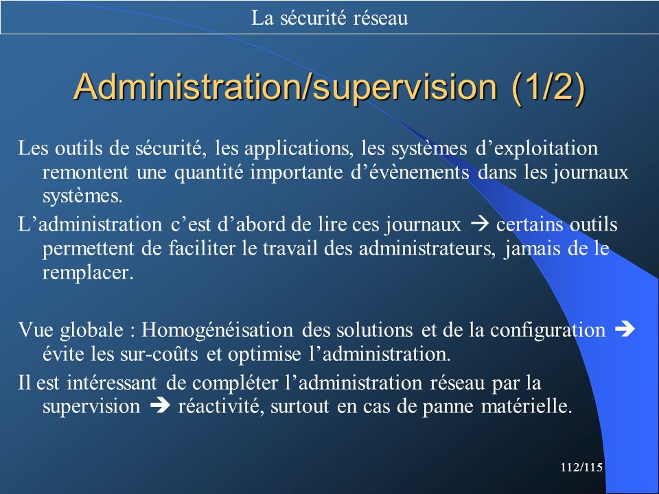 Administration/supervision (1/2)