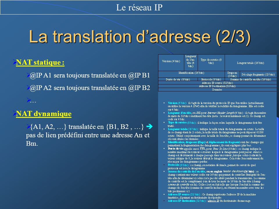 La translation d'adresse (2/3)