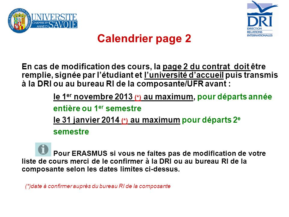 Calendrier page 2