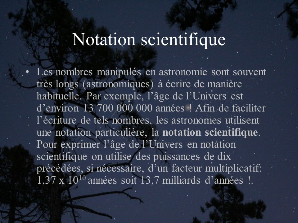 Notation scientifique