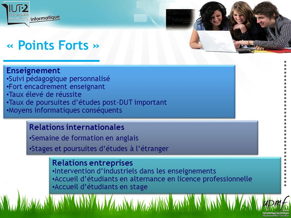 « Points Forts » Enseignement Relations internationales