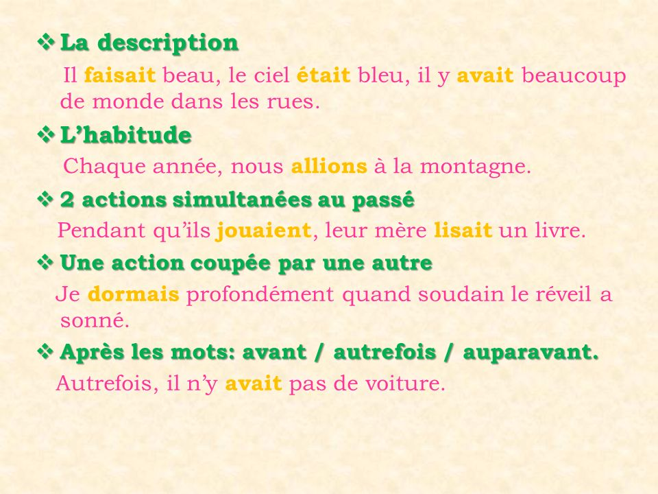 La description L'habitude