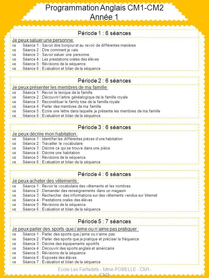 programmation anglais cm1-cm2 ann u00e9e 1