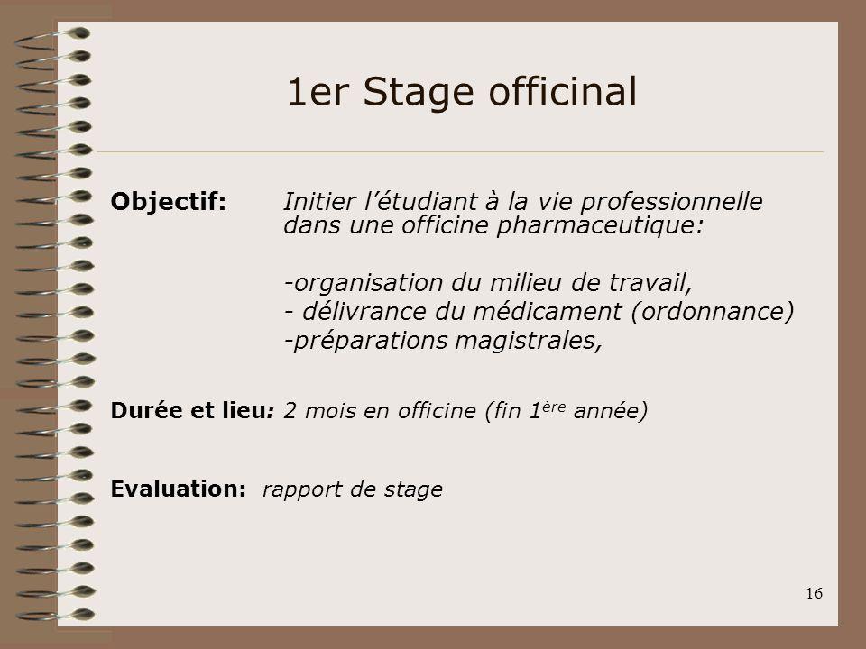 Rapport De Stage 3eme Pharmacie Gratuit Chaudiere Frisquet