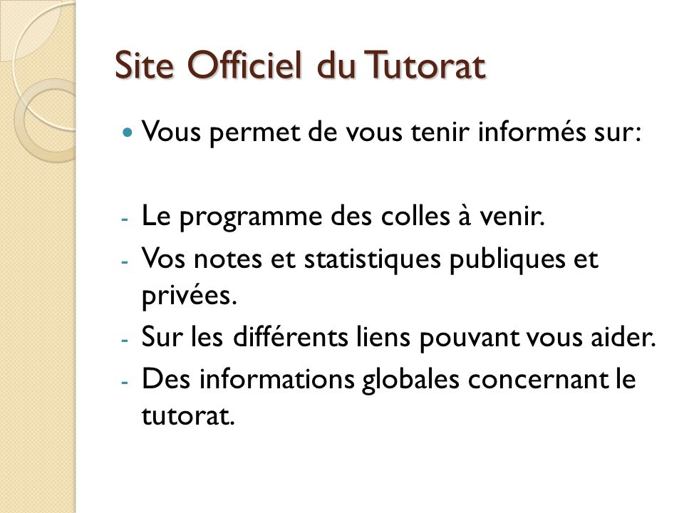 Site Officiel du Tutorat