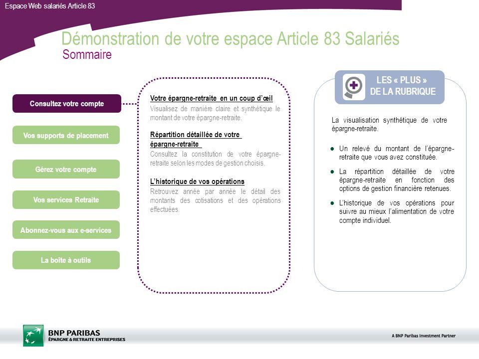 Votre Espace Web Article 83 Salaries Ppt Video Online Telecharger