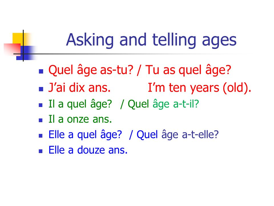 Asking and telling ages