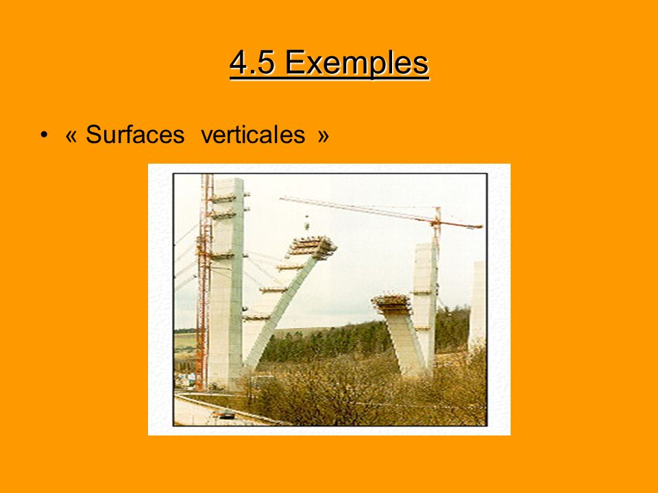 4.5 Exemples « Surfaces verticales »