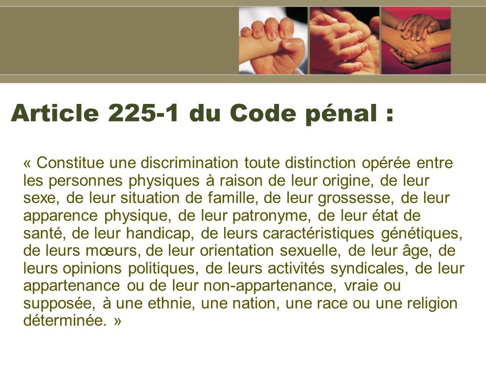 Article du Code pénal :