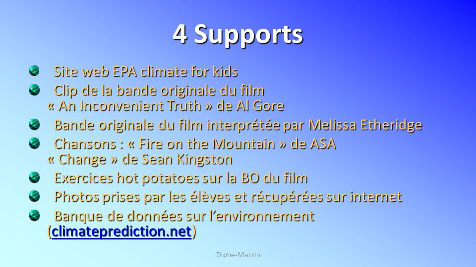 4 Supports Site web EPA climate for kids