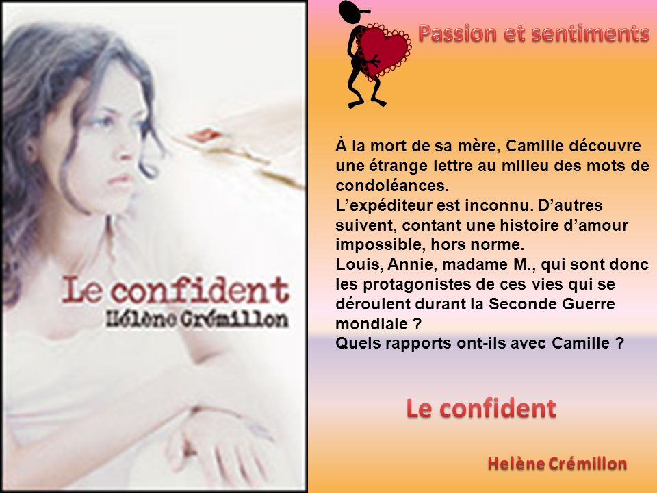 Le confident Passion et sentiments Helène Crémillon