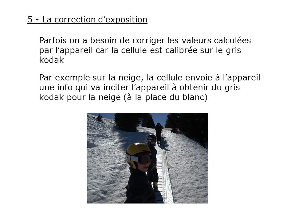 5 - La correction d'exposition