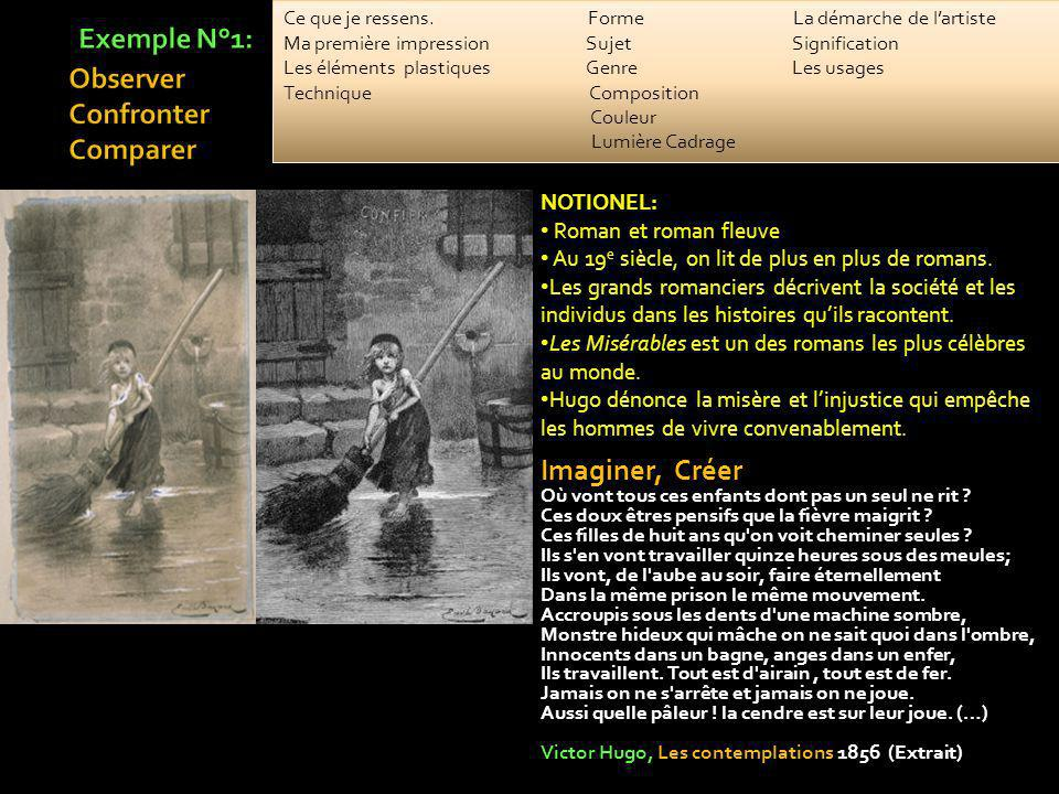 Exemple N°1: Observer Confronter Comparer