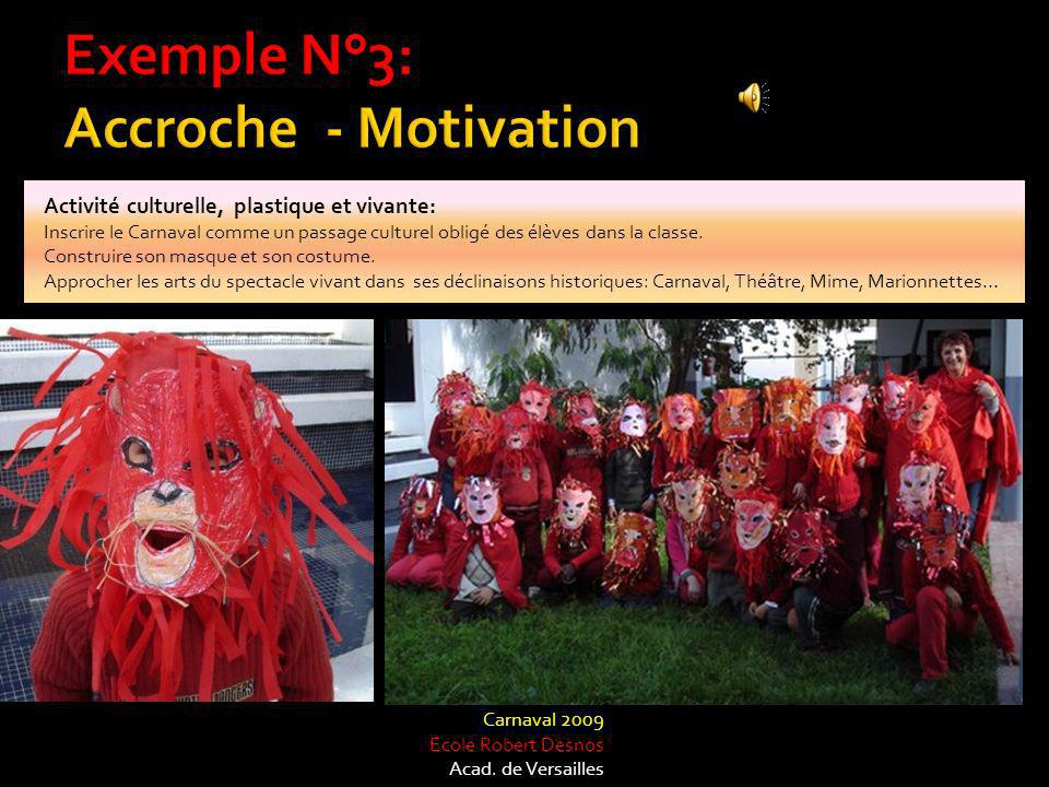 Exemple N°3: Accroche - Motivation