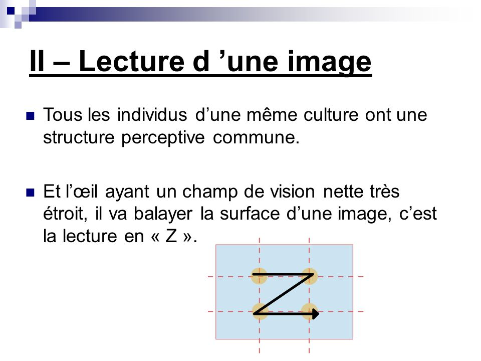 II – Lecture d 'une image