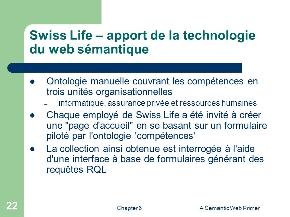 Swiss Life – apport de la technologie du web sémantique