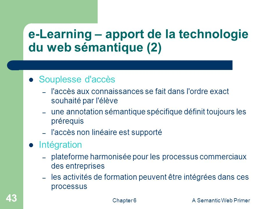 e-Learning – apport de la technologie du web sémantique (2)