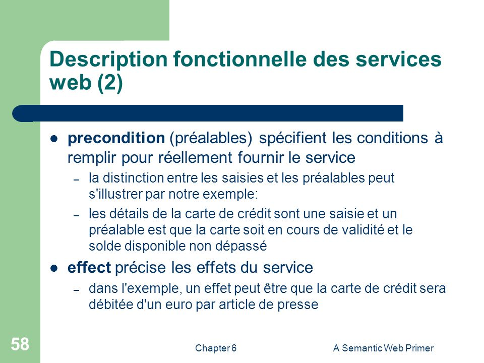 Description fonctionnelle des services web (2)