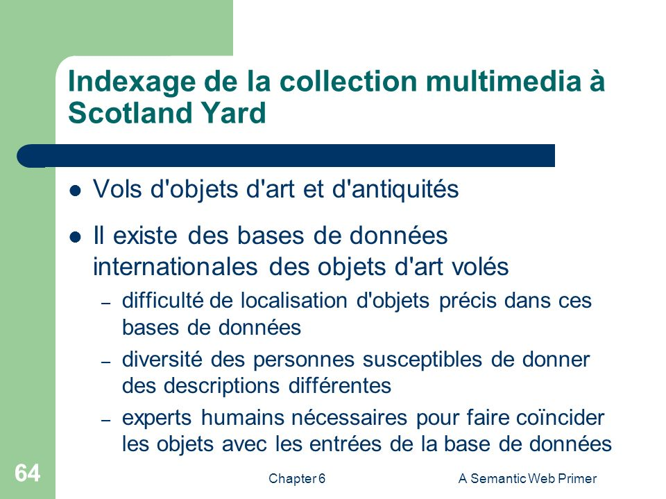 Indexage de la collection multimedia à Scotland Yard