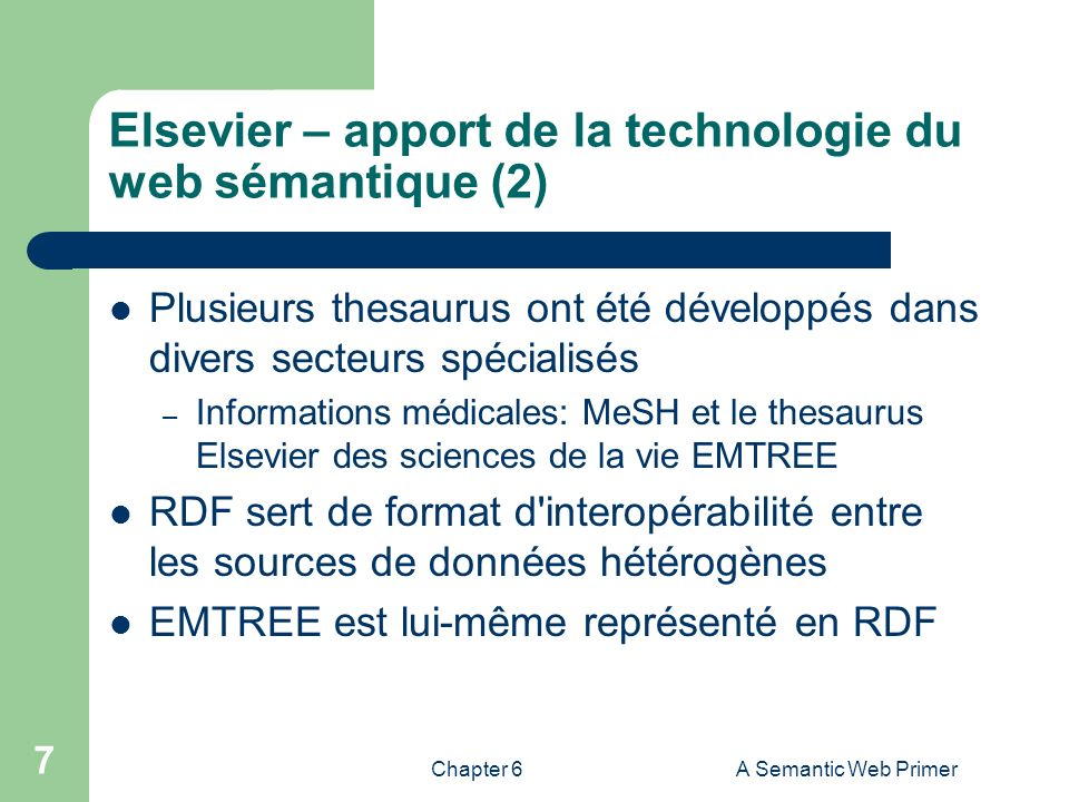 Elsevier – apport de la technologie du web sémantique (2)