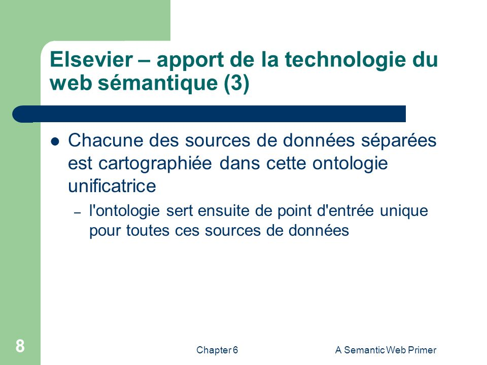 Elsevier – apport de la technologie du web sémantique (3)
