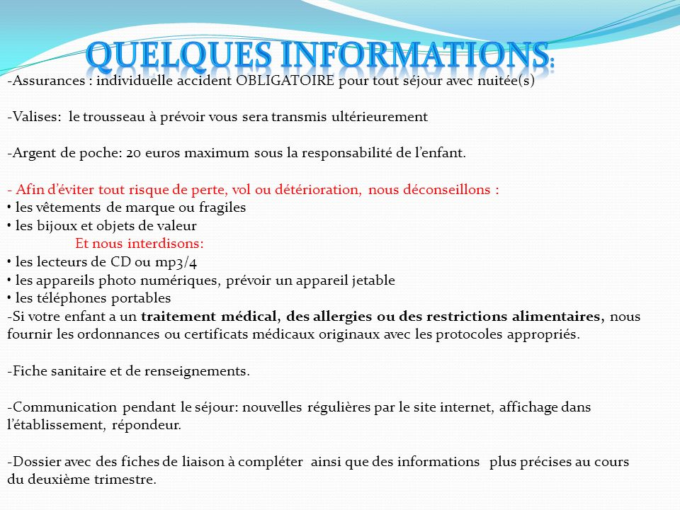 Quelques informations:
