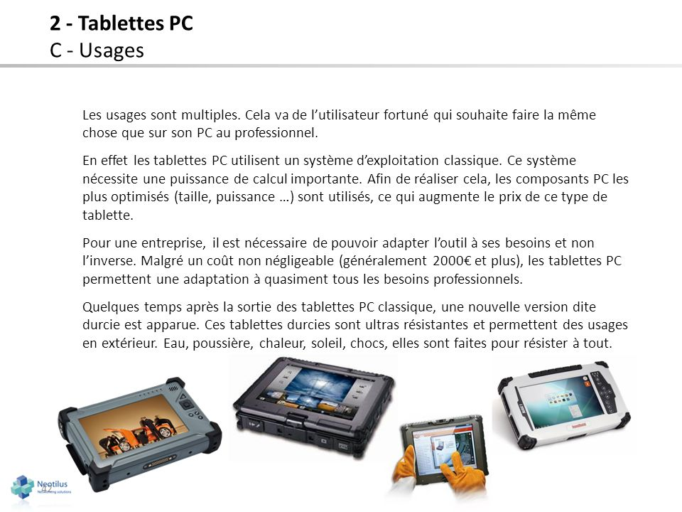 2 - Tablettes PC C - Usages
