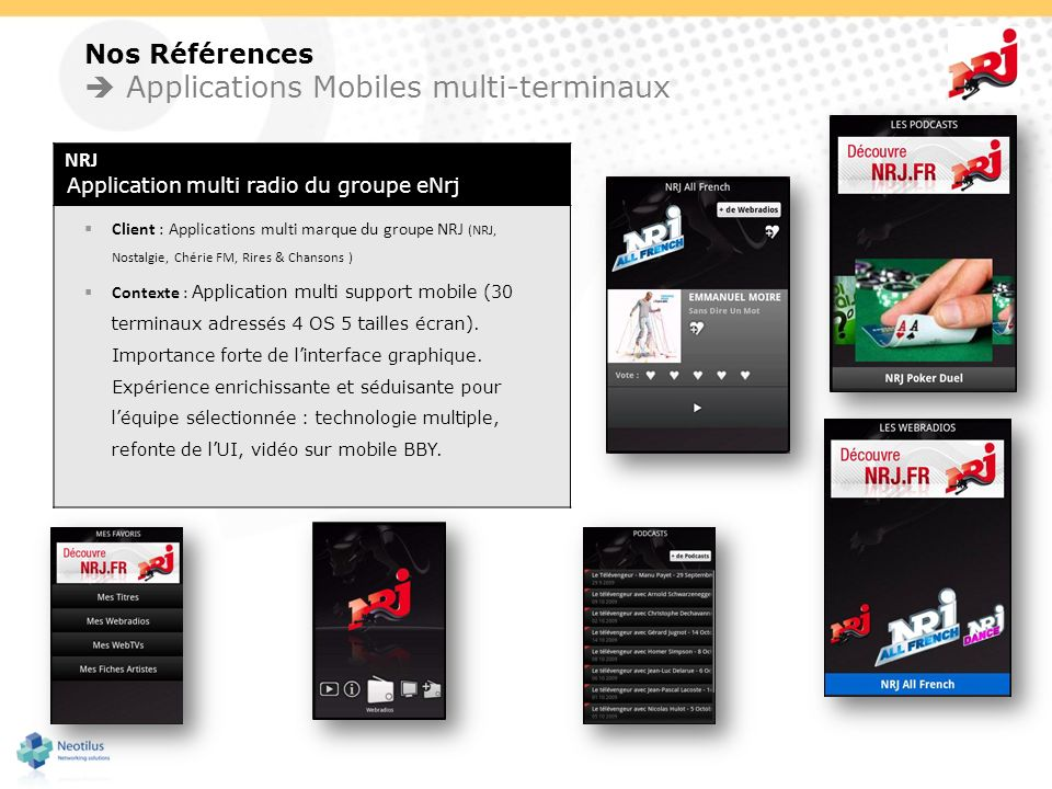  Applications Mobiles multi-terminaux