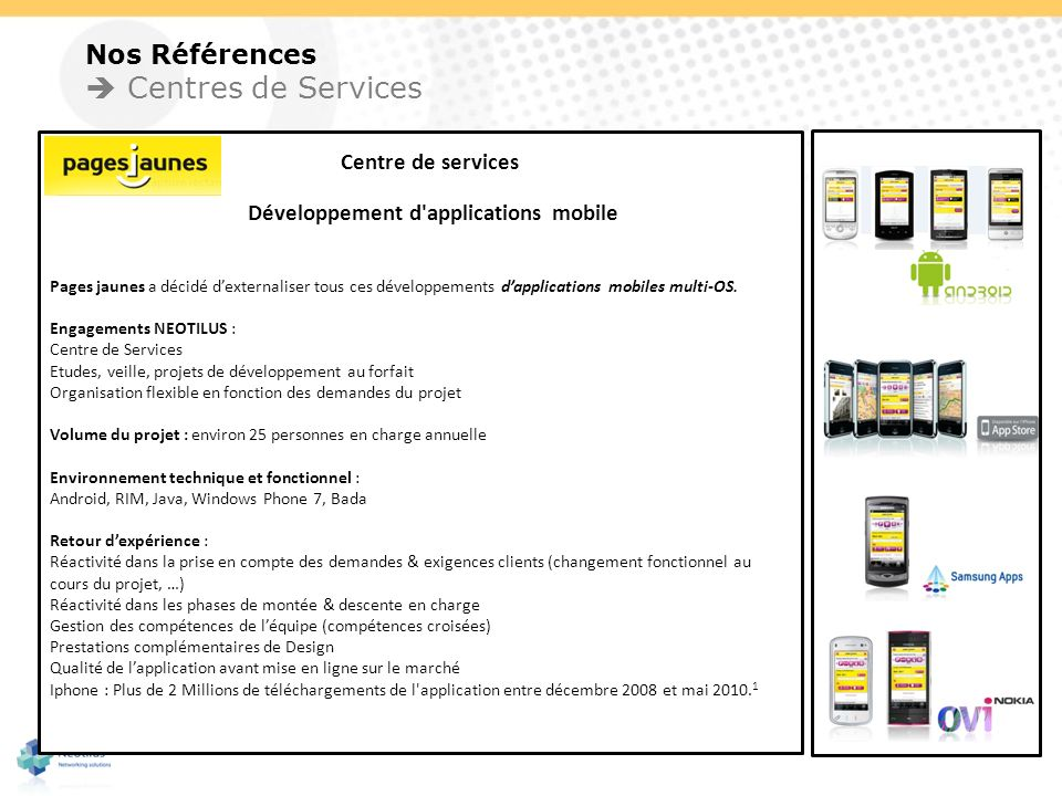 Développement d applications mobile