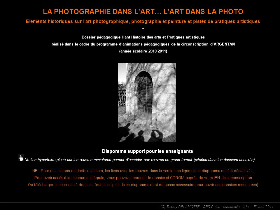 LA PHOTOGRAPHIE DANS L'ART… L'ART DANS LA PHOTO