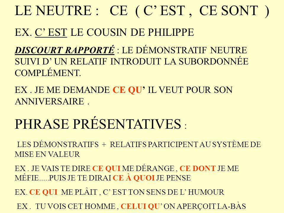 les adjectifs demonstratifs exercices pdf