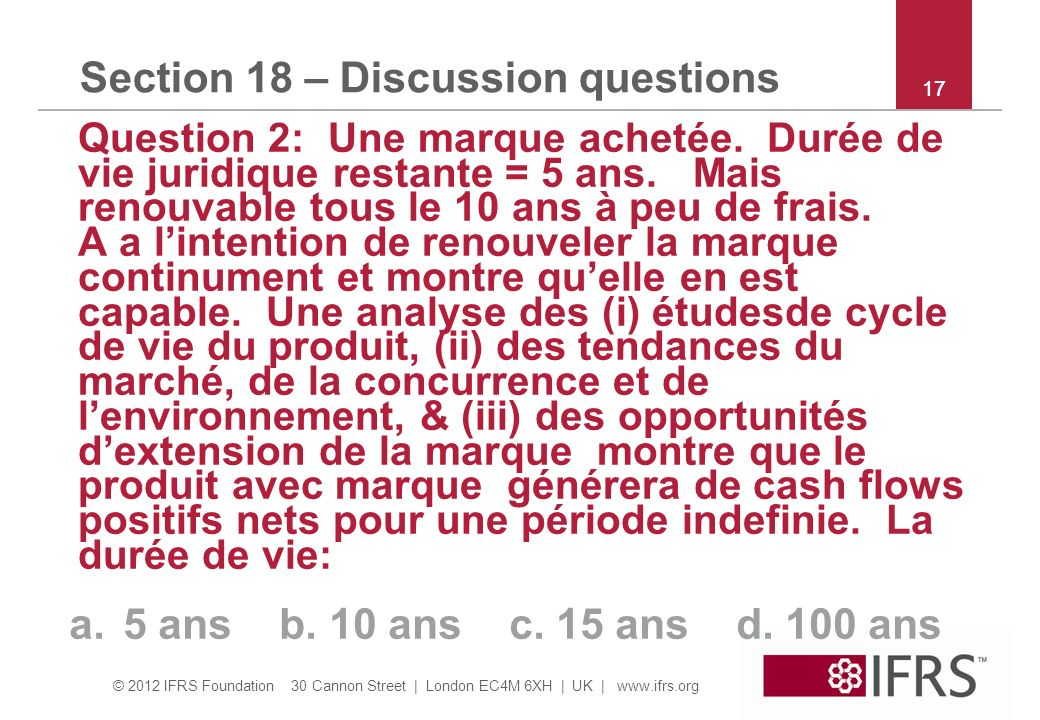 Section 18 – Discussion questions