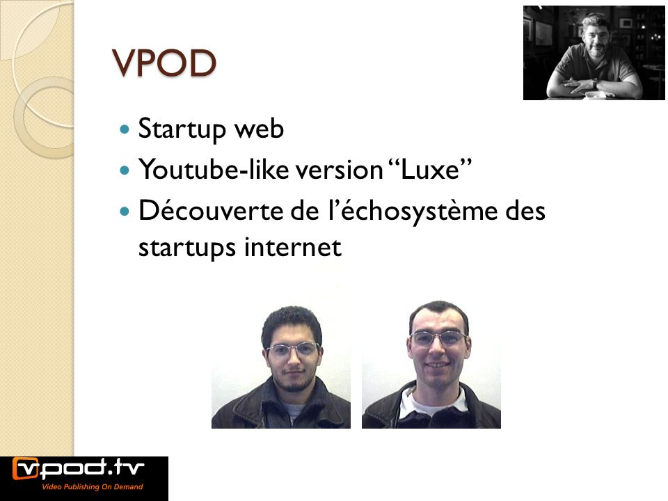 VPOD Startup web Youtube-like version Luxe
