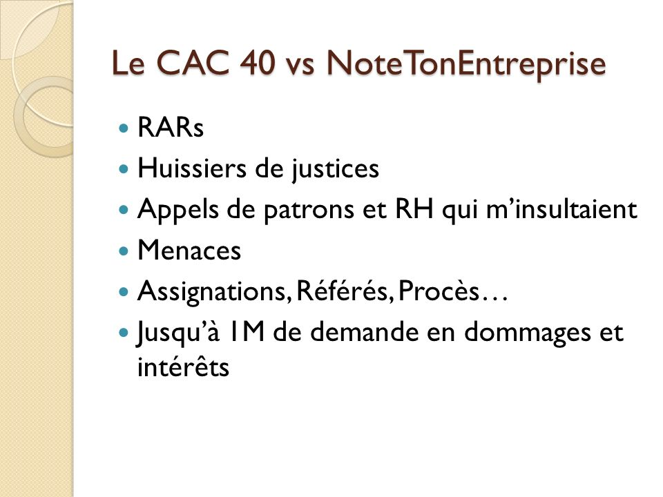 Le CAC 40 vs NoteTonEntreprise