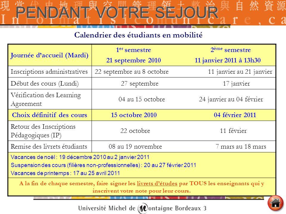 Calendrier Examens Bordeaux Montaigne.Guide D Information De L Etudiant Etranger En Mobilite Ppt