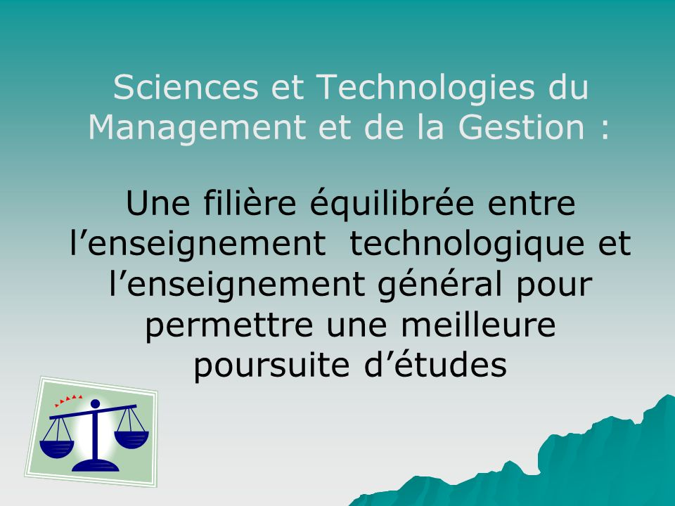 Sciences et Technologies du Management et de la Gestion :