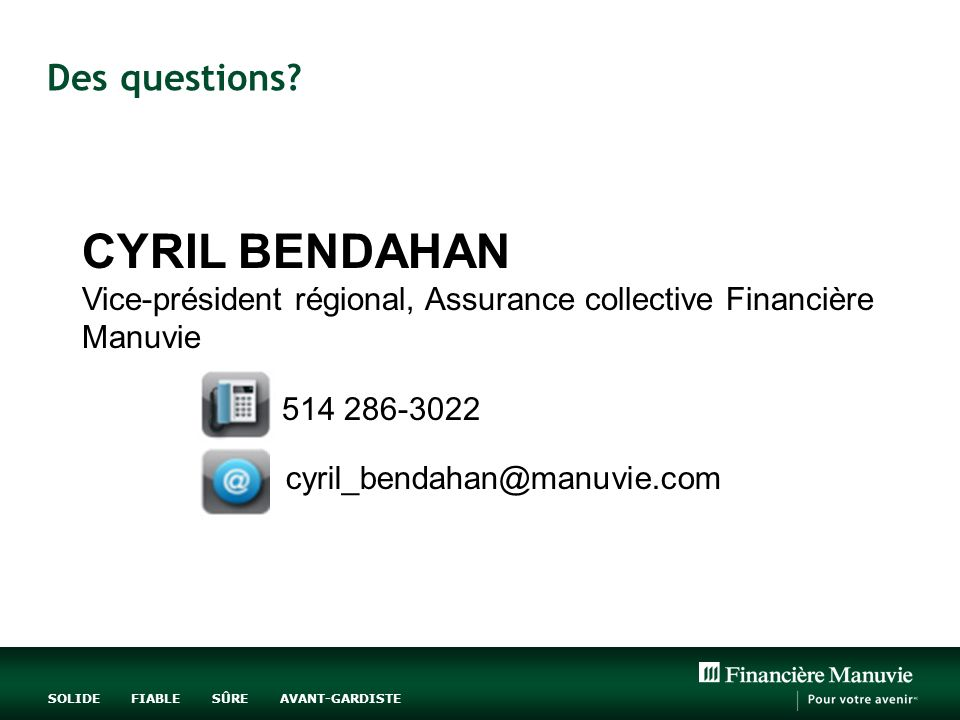 CYRIL BENDAHAN Des questions