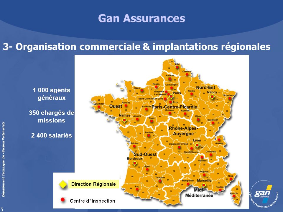 3- Organisation commerciale & implantations régionales