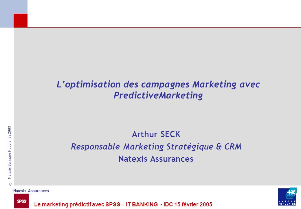L'optimisation des campagnes Marketing avec PredictiveMarketing