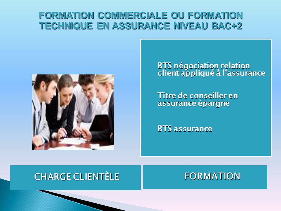 FORMATION COMMERCIALE OU FORMATION